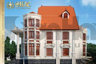 2 Mẫu kiến trúc biệt thự pháp đẹp tại biên hòa sh btp 0030