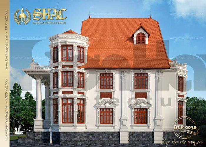 Thiết kế được đánh giá cao của ngôi biệt thự phố cổ điển 3 tầng tại Đồng Nai
