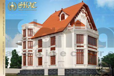 3 Thiết kế kiến trúc biệt thự pháp cổ tại biên hòa sh btp 0030