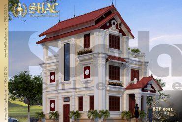 3 Thiết kế kiến trúc biệt thự pháp đẹp tại hải phòng sh btp 0031