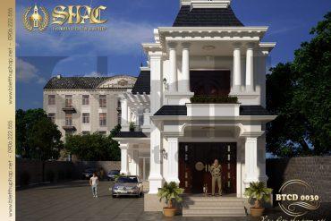 3 Thiết kế kiến trúc biệt thự tân cổ điển pháp tại cà mau sh btcd 0030