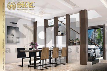 3 Thiết kế nội thất phòng bếp ăn biệt thự tân cổ điển đẹp tại hải phòng sh btcd 0029