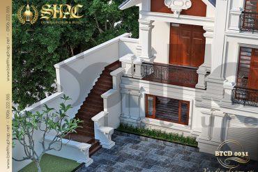 3 Thiết kế sân vườn biệt thự tân cổ điển đẹp tại quảng ninh sh btcd 0031