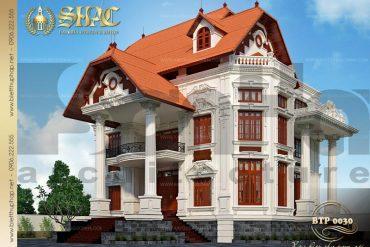 4 Mẫu kiến trúc biệt thự pháp đẹp tại biên hòa sh btp 0030