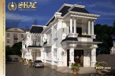 4 Mẫu kiến trúc biệt thự tân cổ điển đẹp tại cà mau sh btcd 0030