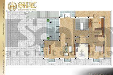 5 Mặt bằng công năng tầng 1 biệt thự tân cổ điển pháp tại quảng ninh sh btcd 0031