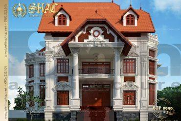 5 Thiết kế kiến trúc biệt thự pháp cổ tại biên hòa sh btp 0030