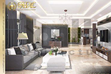 5 Thiết kế nội thất phòng khách 1 biệt thự tân cổ điển tại hải phòng sh btcd 0029