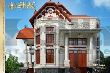 6 Mẫu kiến trúc biệt thự pháp đẹp tại biên hòa sh btp 0030