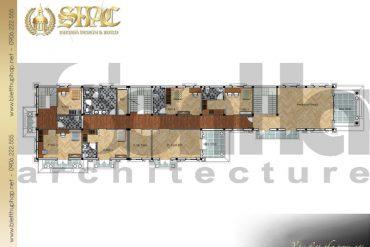7 Mặt bằng công năng tầng 2 biệt thự tân cổ điển pháp tại cà mau sh btcd 0030