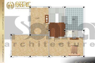 7 Mặt bằng công năng tầng 3 biệt thự tân cổ điển pháp tại quảng ninh sh btcd 0031