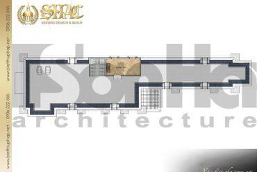 8 Mặt bằng công năng tầng áp mái biệt thự tân cổ điển tại cà mau sh btcd 0030