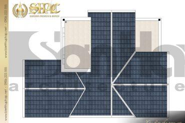8 Mặt bằng công năng tầng mái biệt thự tân cổ điển tại quảng ninh sh btcd 0031