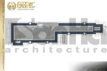 9 Mặt bằng công năng tầng mái biệt thự tân cổ điển đẹp tại cà mau sh btcd 0030