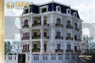 1 Thiết kế kiến trúc biệt thự tân cổ điển pháp tại sài gòn sh btcd 0032