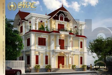 1 Thiết kế kiến trúc kiến trúc biệt thự pháp đẹp tại quảng ninh sh btp 0034