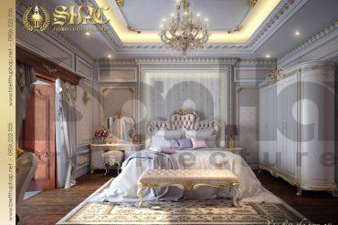 10 Mẫu nội thất phòng ngủ 3 biệt thự pháp cổ tại quảng ninh sh btp 0033