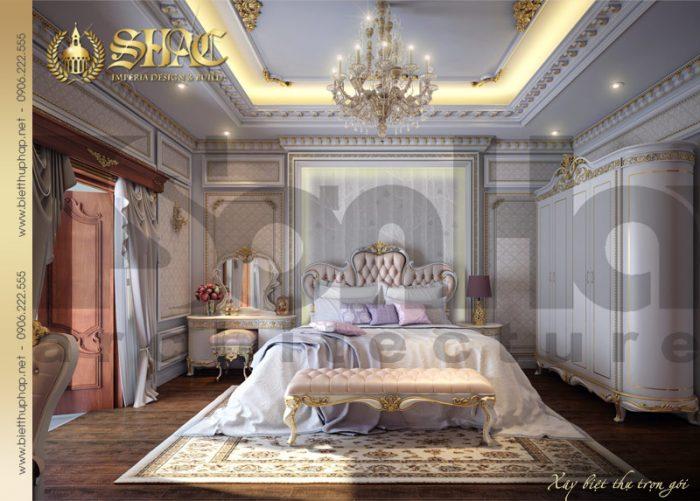 Thêm một phương án được đánh giá cao của ngôi biệt thự 4 tầng cổ điển pháp