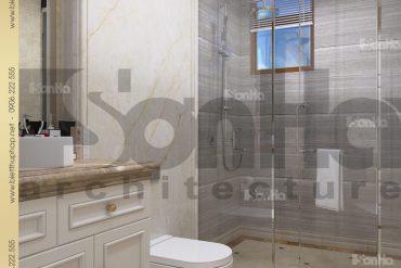 11 Thiết kế mẫu nội thất phòng tắm wc biệt thự tân cổ điển đẹp tại hà nội sh btcd 0035