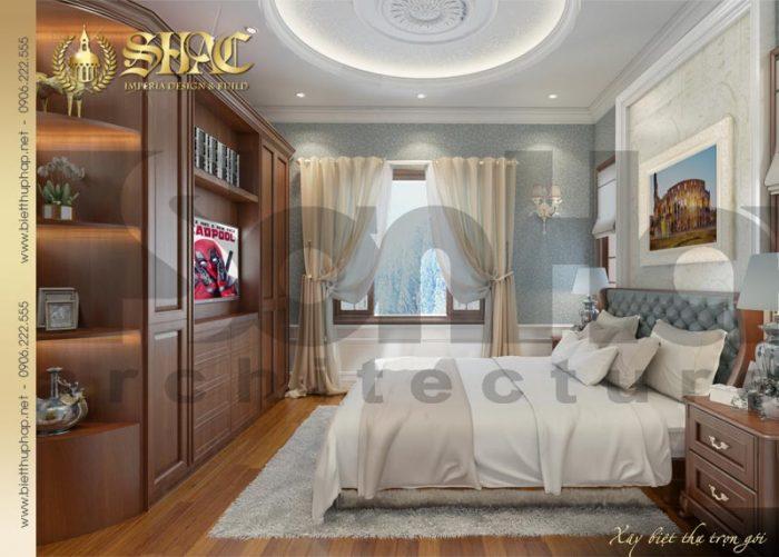 Thiết kế ấn tượng và được yêu thích của phòng ngủ ngôi biệt thự kiểu pháp đẹp