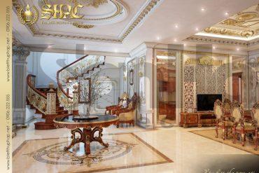 13 Thiết kế nội thất sảnh thang biệt thự pháp tại quảng ninh sh btp 0033