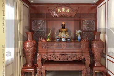 14 Mẫu nội thất phòng thờ biệt thự pháp cổ tại quảng ninh sh btp 0034