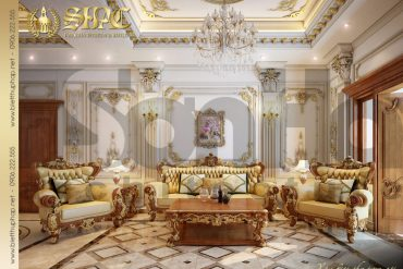 15 Thiết kế nội thất phòng sinh hoạt chung biệt thự pháp đẹp tại quảng ninh sh btp 0033