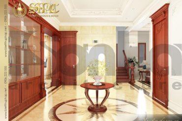 15 Thiết kế nội thất sảnh thang biệt thự pháp đẹp tại quảng ninh sh btp 0034