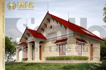 2 Mẫu kiến trúc biệt thự mái thái tại hải phòng sh btcd 0036