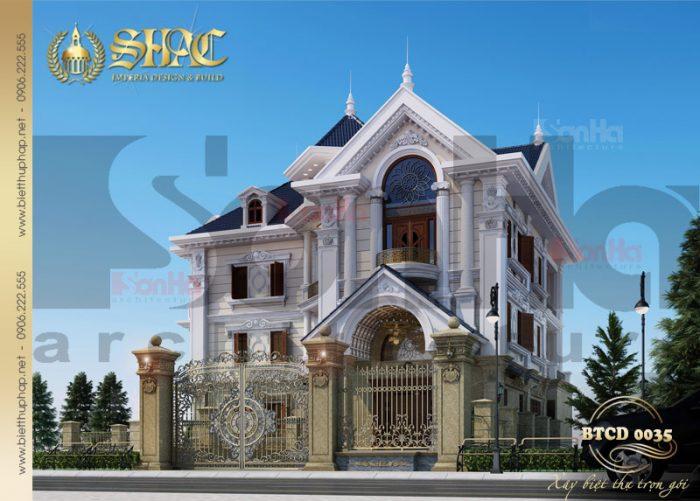 Kiến trúc biệt thự tân cổ điển châu âu được làm nên bởi những đường nét có duyên