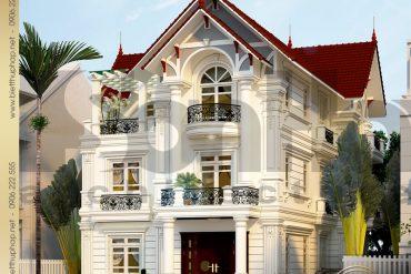 2 Mẫu kiến trúc biệt thự tân cổ điển đẹp tại hưng yên sh btcd 0037