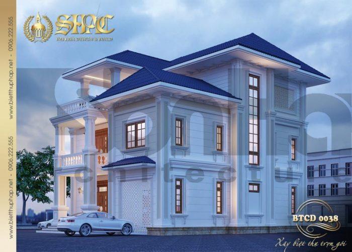 Thiết kế kiến trúc giản dị nhưng ấn tượng của ngôi biệt thự tân cổ điển 230m2