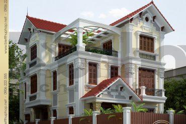 3 Thiết kế kiến trúc biệt thự tân cổ điển đẹp tại quảng ninh sh btcd 0034