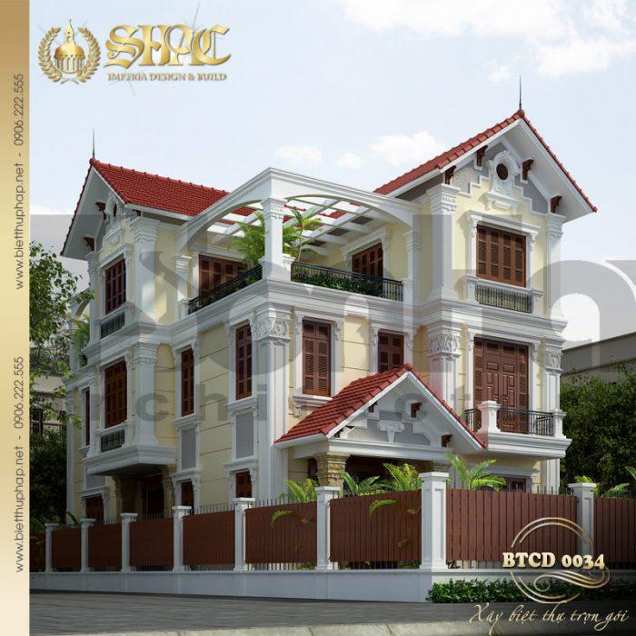 Mãn nhãn với thiết kế tinh tế đến từng tiểu tiết của biệt thự 3 tầng tân cổ điển pháp