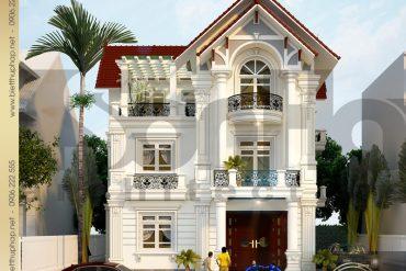 3 Thiết kế kiến trúc biệt thự tân cổ điển pháp tại hưng yên sh btcd 0037