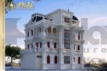 3 Thiết kế kiến trúc mặt sau biệt thự pháp tại quảng ninh sh btp 0033