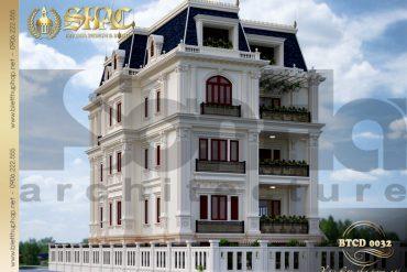 3 Thiết kế kiến trúc mặt sau biệt thự tân cổ điển pháp tại sài gòn sh btcd 0032