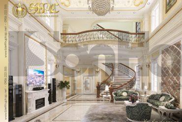 3 Thiết kế nội thất phòng khách biệt thự tân cổ điển pháp tại hà nội sh btcd 0035