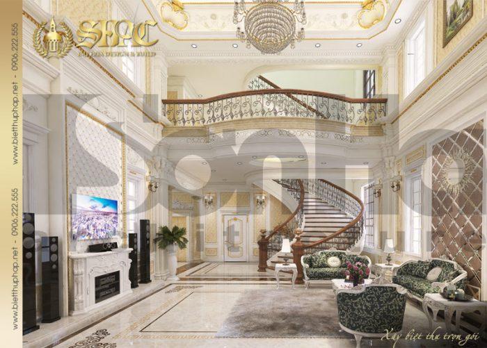 Phương án thiết kế nội thất phòng khách được yêu thích và đánh giá cao của biệt thự đẹp