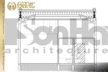 4 Mặt cắt 1 1 biệt thự tân cổ điển đẹp tại hà nội sh btcd 0033