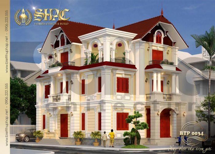 Nét hài hòa trong thiết kế kiến trúc của ngôi biệt thự 130m2 tại Quảng Ninh