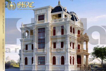 4 Mẫu kiến trúc biệt thự pháp tại quảng ninh sh btp 0033