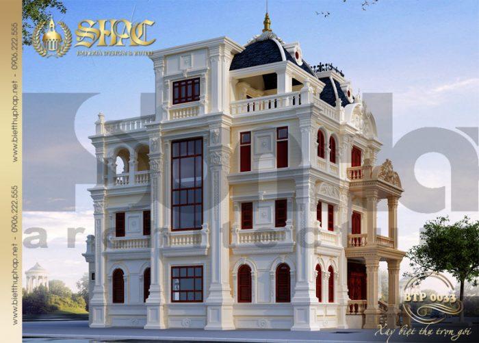 Nhìn từ mọi góc nhìn kiến trúc của ngôi biệt thự cổ điển kiểu pháp đều ấn tượng