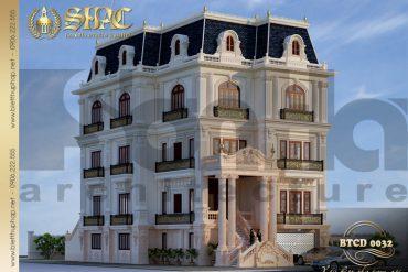 4 Mẫu kiến trúc biệt thự tân cổ điển đẹp tại sài gòn sh btcd 0032