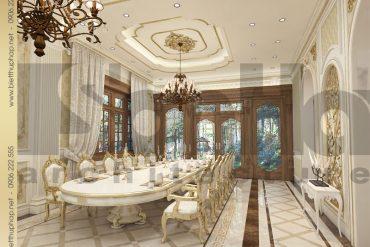 4 Mẫu nội thất phòng ăn biệt thự tân cổ điển đẹp tại hà nội sh btcd 0035