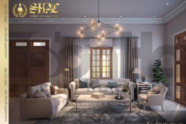4 Mẫu nội thất phòng khách biệt thự mái thái 1 tầng tại hải phòng sh btcd 0036