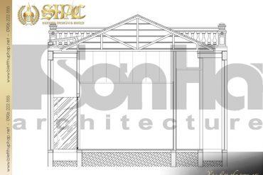 5 Mặt cắt 2 2 biệt thự tân cổ điển pháp tại hà nội sh btcd 0033