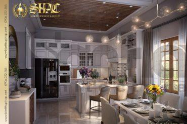 5 Thiết kế nội thất phòng bếp ăn biệt thự mái thái 1 tầng tại hải phòng sh btcd 0036