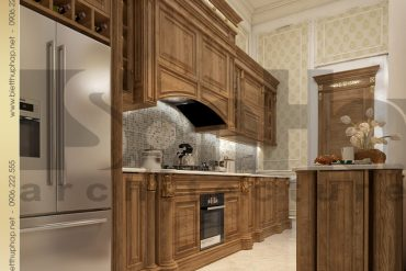 5 Thiết kế nội thất phòng bếp biệt thự tân cổ điển pháp tại hà nội sh btcd 0035