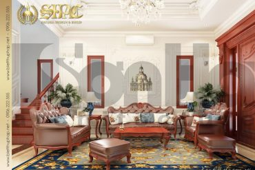 5 Thiết kế nội thất phòng khách biệt thự pháp tại quảng ninh sh btp 0034